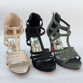 image of 10 CM SLIDE PLATFORM ZIP SANDALS HEELS SHOES
