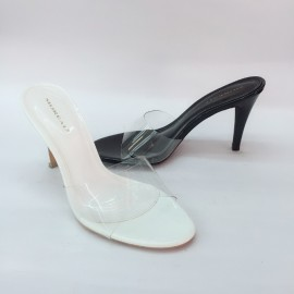 image of 8CM CINDERELLA WHITE HIGH HEELS SHOES