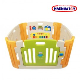image of Haenim Baby Play Yard With Melody Beige