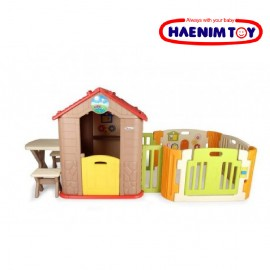 image of Haenim Toy My First Play House + Play Yard [Free 100 Balls]