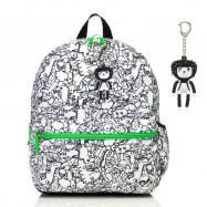 image of Babymel Kid's Junior Backpack Dino Black & White BM1606