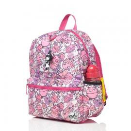 image of Babymel Kid's Junior Backpack Robot Pink