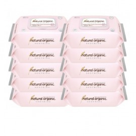 image of Natural Organic Soothing Baby Wipes (70s X 10 Packs)