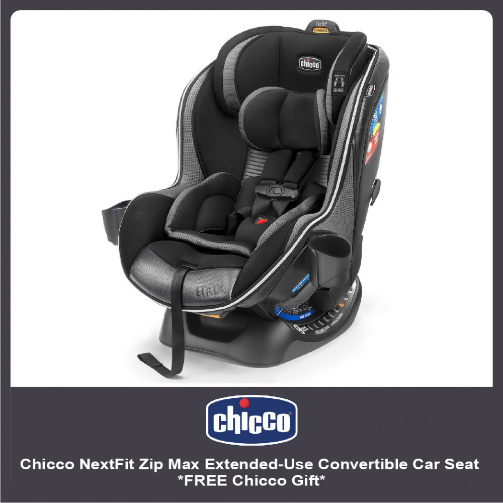 Chicco NextFit Zip Max Extended-Use Convertible Car Seat