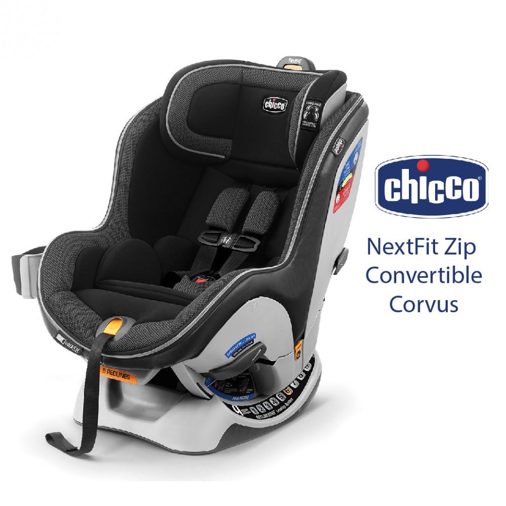 Chicco Nextfit Zip Convertible Car Seat (Corvus)