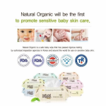 Natural Organic Embossing Baby Wipes (100 Sheets X 2 Packs)