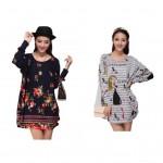 Loose style , colour long sleeve blouse