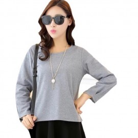 image of Super comfy ladies round neck blouse