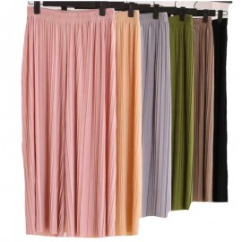 image of READY STOCKS !!Korean high waist pleated loose culottes( Palazzo) casual pants