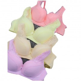 image of wireless nursing /maternity bra for 4 colours , 4 sizes each (buy 4 free 1)-