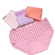 image of Set of 4 free size dot underwear for ladies