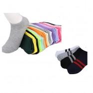 image of Unisex adult socks , short socks (set of 12 pairs) Random colour