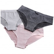 image of Set of 4_low waist seemless underwear for ladies