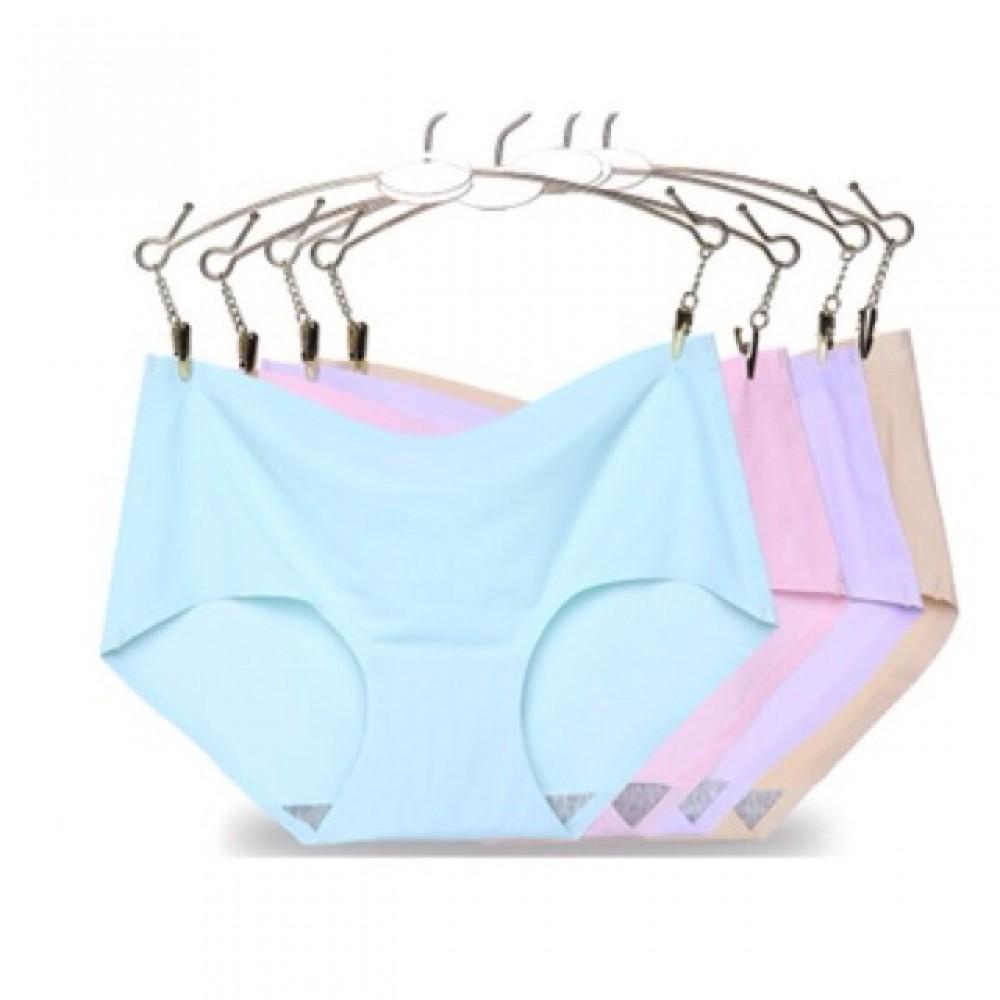 Ready stocks, 4 pcs per set , random colour seemless underwear