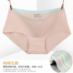 Ready stocks, 4 pcs per set , random colour seemless underwear
