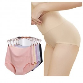 image of Set of 4 seemless high waist underwear for ladies, free size , super comfortable