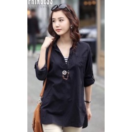 image of Plus size blouse for ladies, comfortable loose type wear (M-4XL)