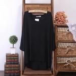 Ready stocks! Plus size + Super comfy ladies round neck blouse
