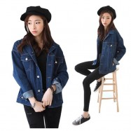 image of Ready stocks. loose style Denim jacket for ladies , M-XL available