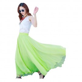 image of Green colour only Plus size chiffon, long skirt for ladies