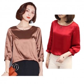 image of Plus size , ice silk casual blouse