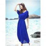 Blue chiffon dress for ladies
