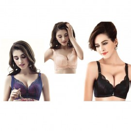 image of Ready stocks ! Light padded , soft wire push up lace bra, comfortable bra