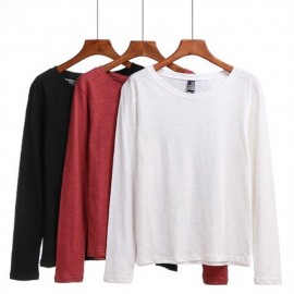 image of Cotton long sleeve tee's