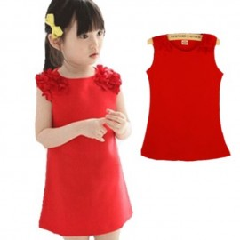 image of Red dress for baby girls
