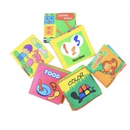 image of Baby toddlers english version fabric book (4 books per set ) , buy 2 set foc 1pc