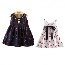 image of Ready stocks_Baby girls cherry decorated dress