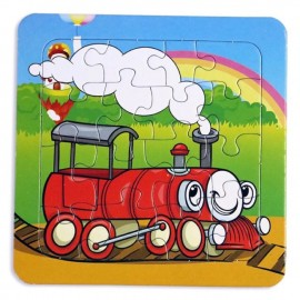 image of set of 3 x16 pcs puzzle for kids, various design available
