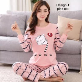 image of Ladies long sleeve pyjamas, various design, various size
