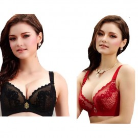 image of Ready stocks!! Sexy lace wire padded bra, as shown in the picture