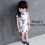 Ready stocks_kids cheongsam , 4 designs , various saiz