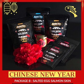 image of Adicto-CNY Big Box-Package B Salted Egg Salmon Skin [Salted Egg Fish Skin][Chinese New Year][CNY][Fish Skin][Salmon Skin]