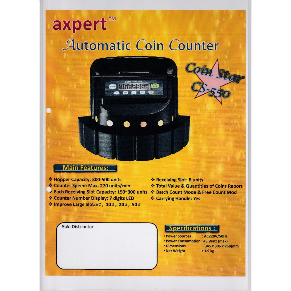 AXPERT COIN COUNTER CS550