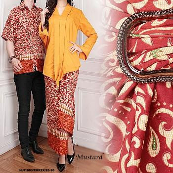 image of READYSTOCK NJCouple-Set Collections Batik Men Top & Kebaya Modern With Pario