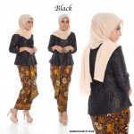 NJ ExclusiveCollection Classic Kurung Modern Style with Self Tied Printed Sarong