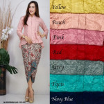 NJ Boutique ExclusiveCollections Fishtail Lace Kebaya with Printed Satin Pario