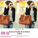 Black Button Jacket [Clearance Sale]