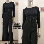 NJ Fashion Sereena Trendy String Jumpsuit [Free Top]