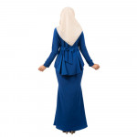 NJ Exclusive Tradisional Fishtail Kebaya with A-Cut Duyung Skirt - Royal Blue