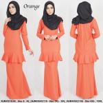 NJBoutique.RTW Exclusive Baju Kurung Collections - Orange