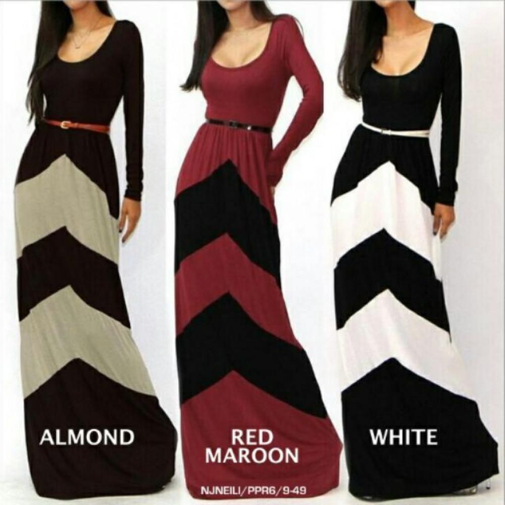 NJ WaveDesign Joint Mermaid Long Dress [Free Belt]