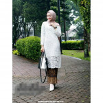 READYSTOCK  ExclusiveCollections Tunic Kurung PradaLace with Pleated Skirt