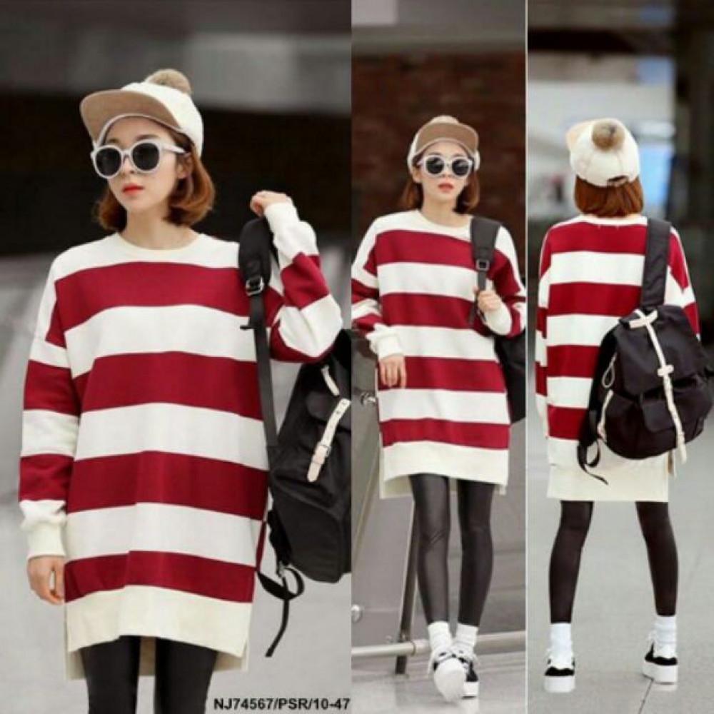 NJ Fashion Stripe Blouse