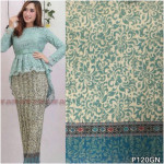 READY STOCK   NJ Fashion Satin Prisket/Pleated Printed Skirt