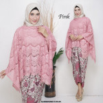 READYSTOCK   NJ ExclusiveCollections Batwing Prada Lace with Satin Pario Skirt