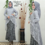 READY STOCK   NJ Exclusive Collections Syahrini Fishtail Kurung with Printed Batik Skirt